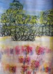Kirombe garden dry season 2014 number 3. 300 x 420 mm. Watercolour and Indian ink on paper.