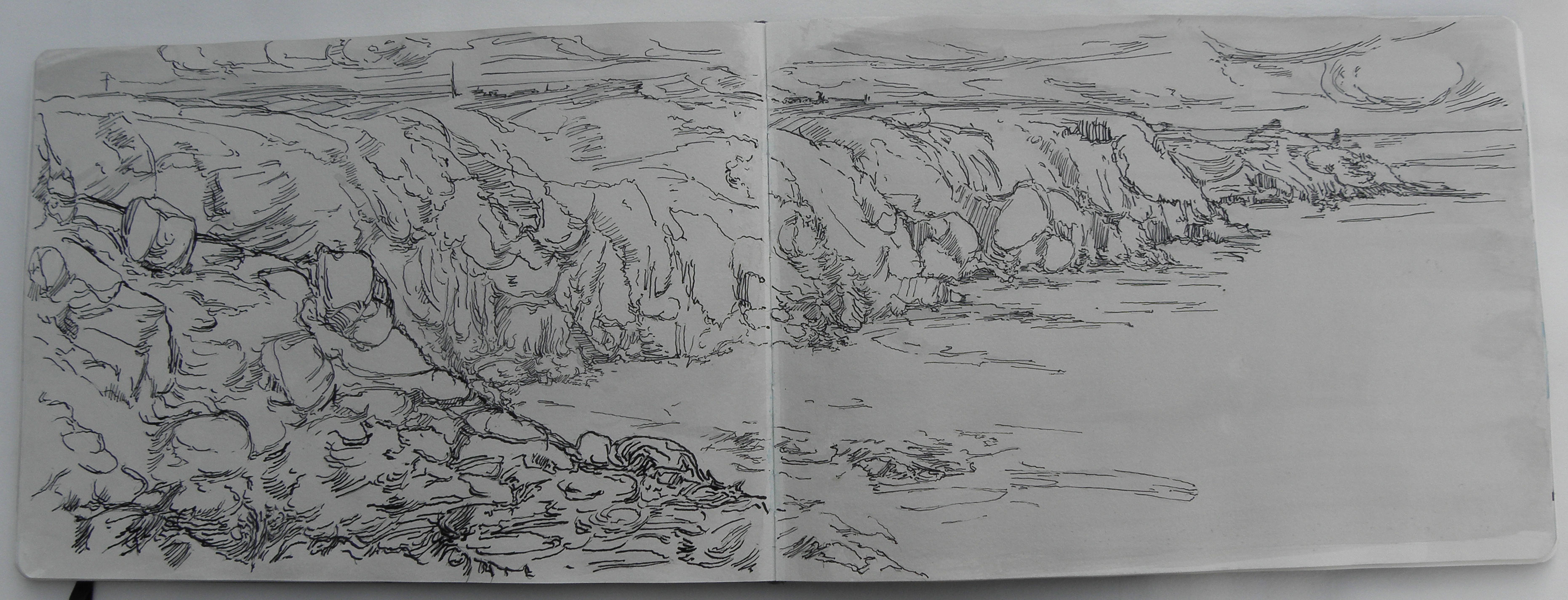 Drawings landscapes cornwall 2011 whitemarkarts for What is landscape drawing
