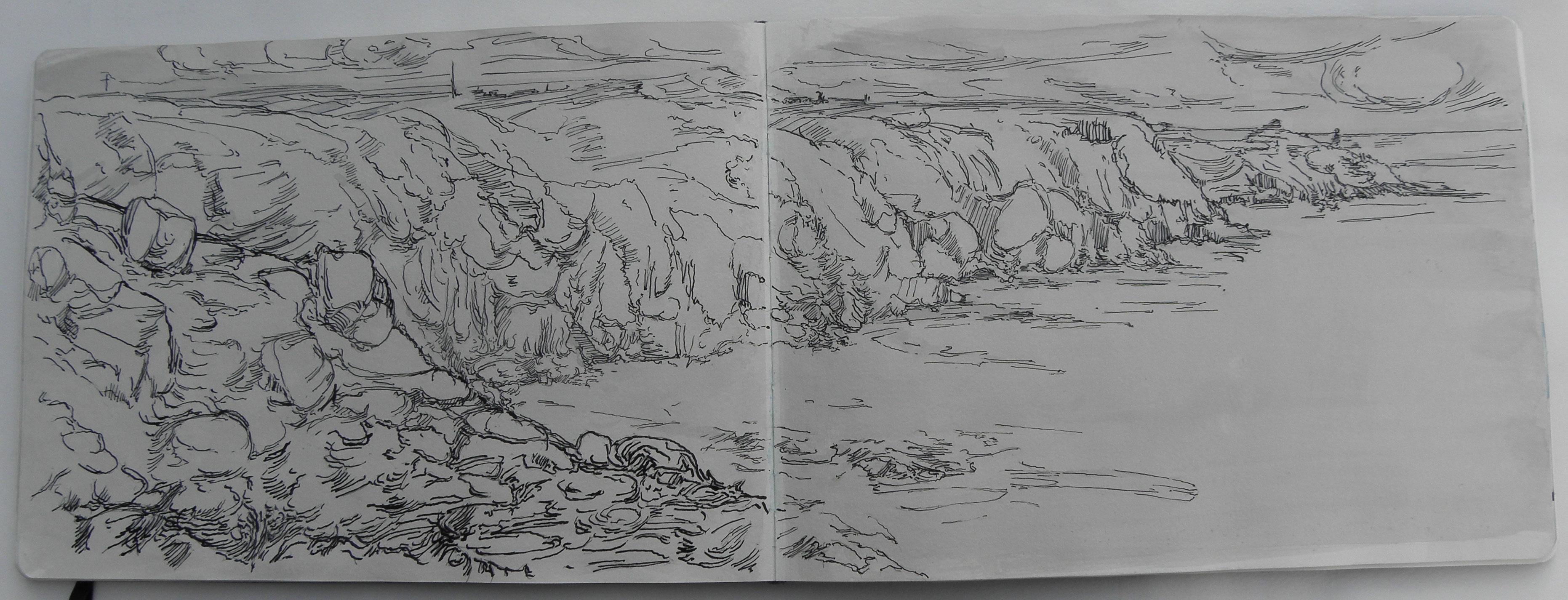 Drawings Landscapes Cornwall 2011 Whitemarkarts