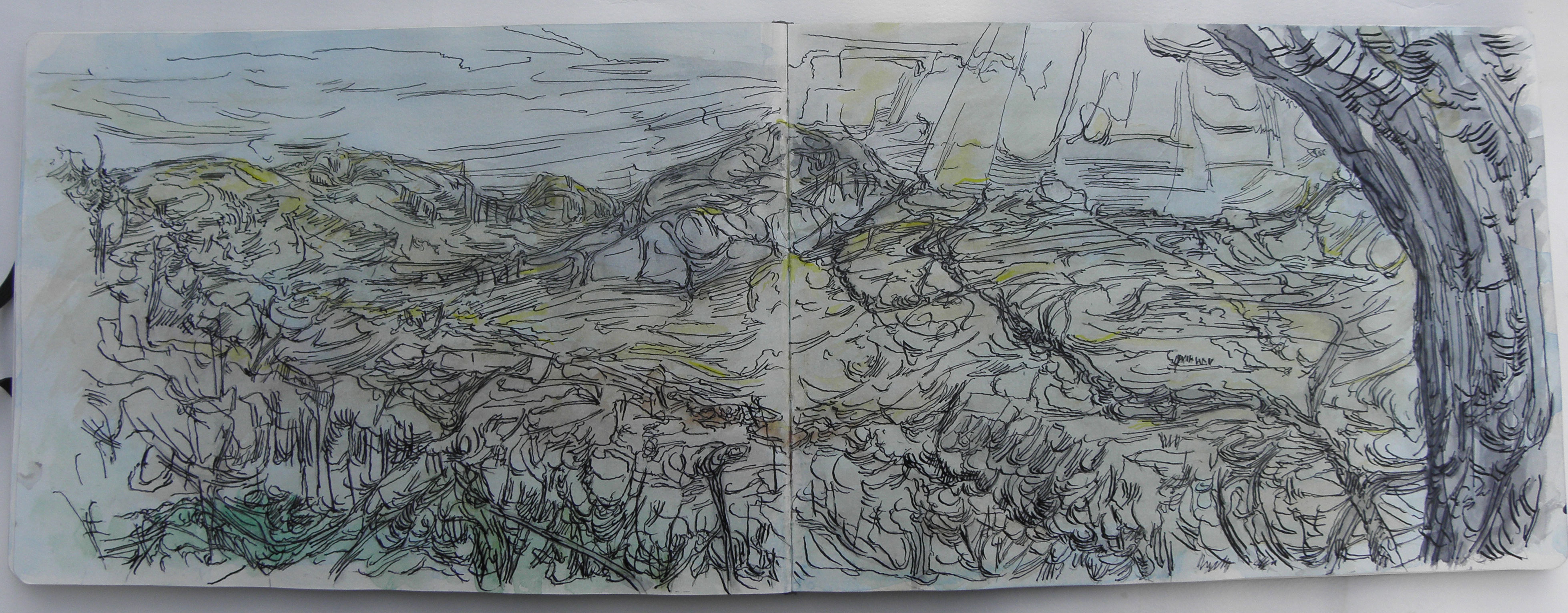 Drawings landscapes scotland whitemarkarts for What is landscape drawing