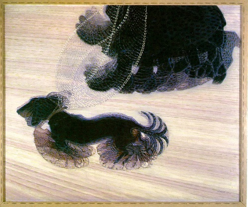 Giacomo Balla: 'Dynamism of a Dog on a Leash', 1912. 910 x 1100 mm. Oil on canvas.