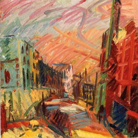Frank Auerbach Mornington Crescent Early Morning 1991. Oil on Canvas