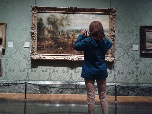 Viewer at the National Gallery, London